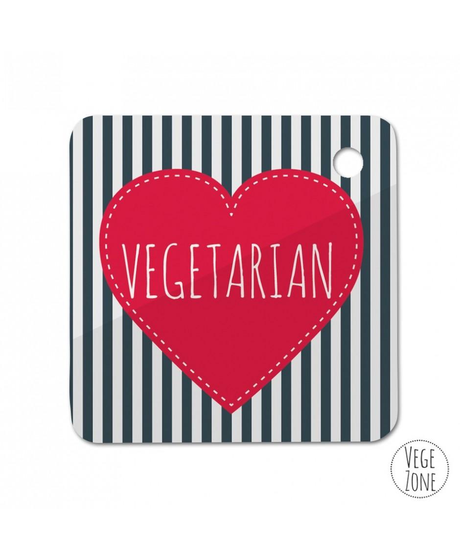 Brelok kwadrat  - Marine (vegan lub vegetarian)