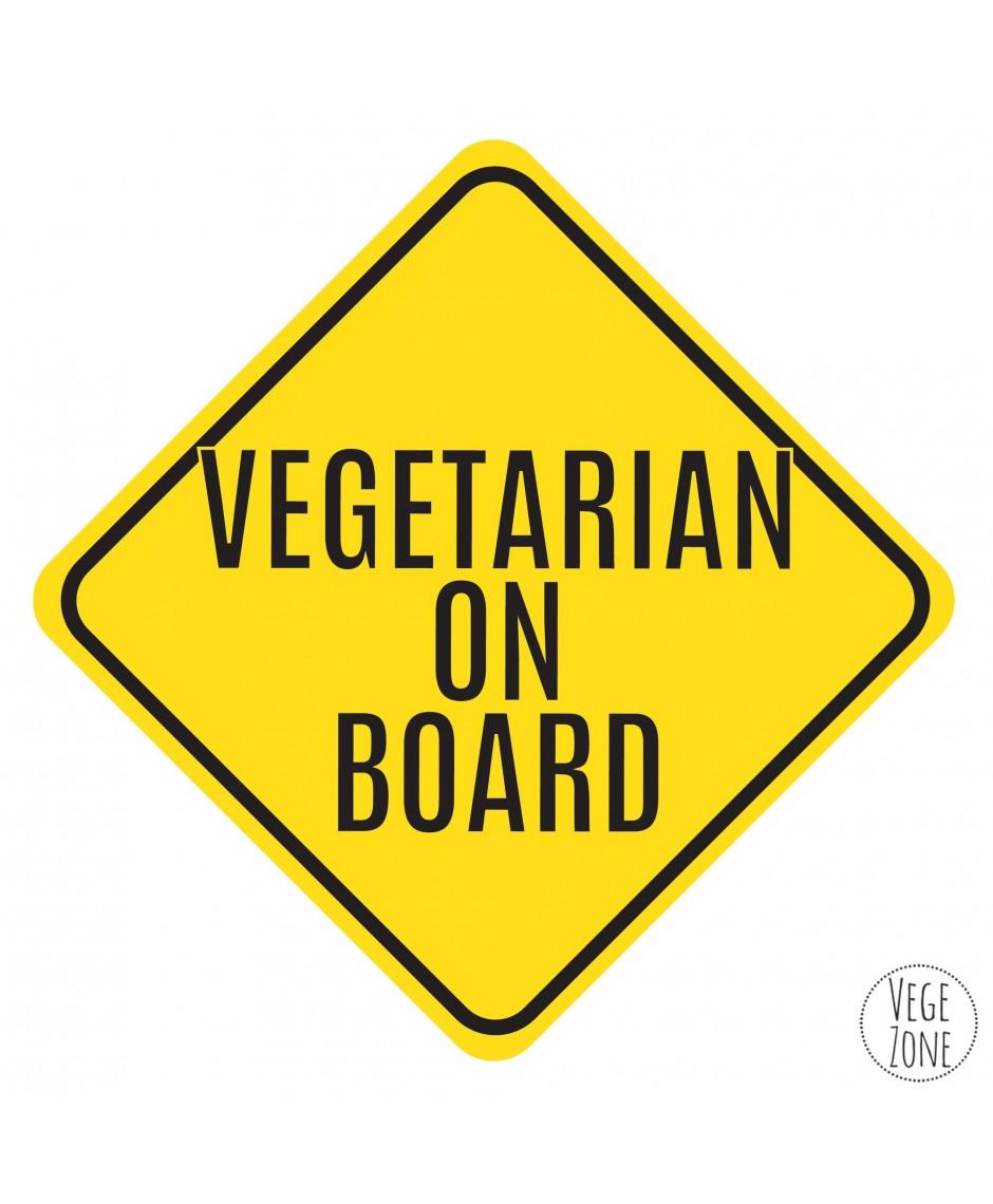 Naklejka samochodowa - Vegetarian on Board