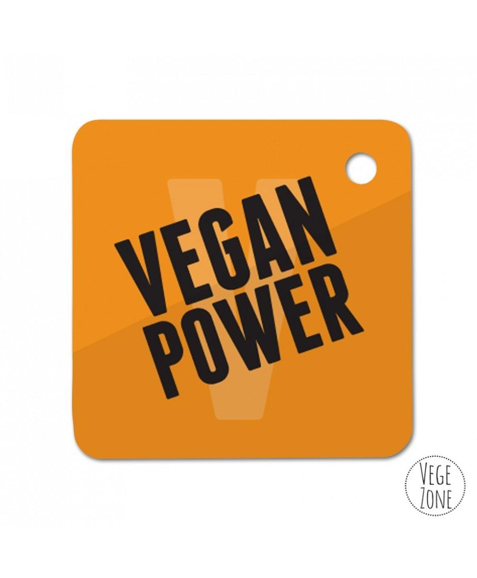 Brelok kwadrat  - Vegan Power