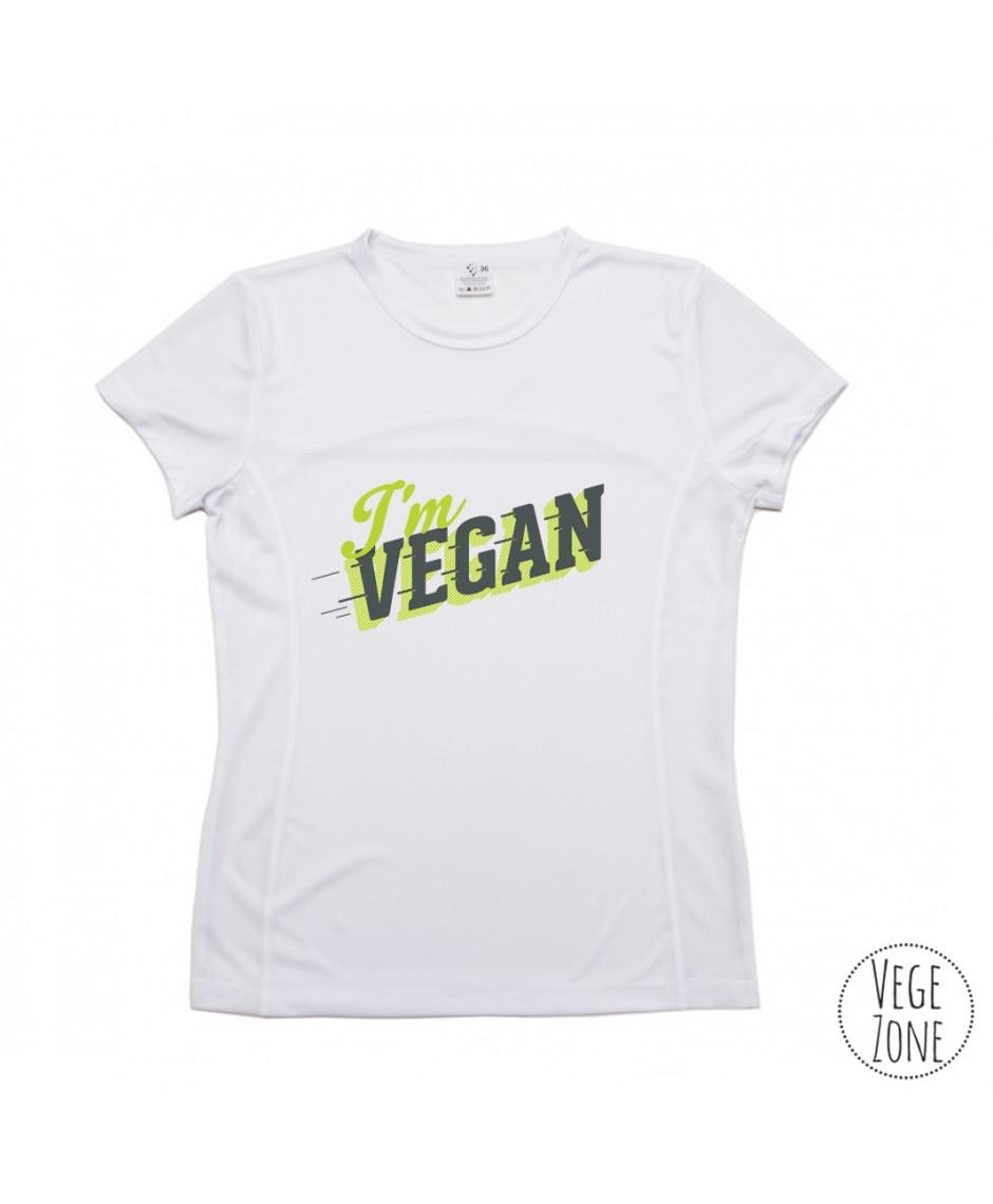 TRENINGOWA damska koszulka - I'm vegan, follow me - PRODUKT POLSKI