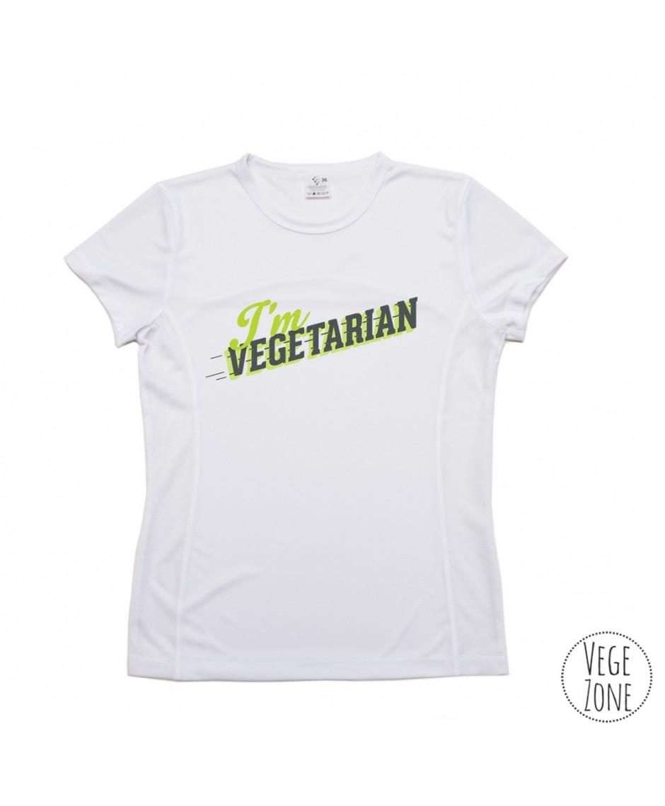TRENINGOWA damska koszulka - I'm vegetarian, follow me - PRODUKT POLSKI