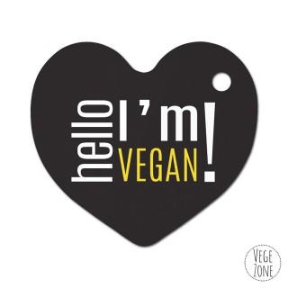 Brelok serce - Vegetarian (zielony)