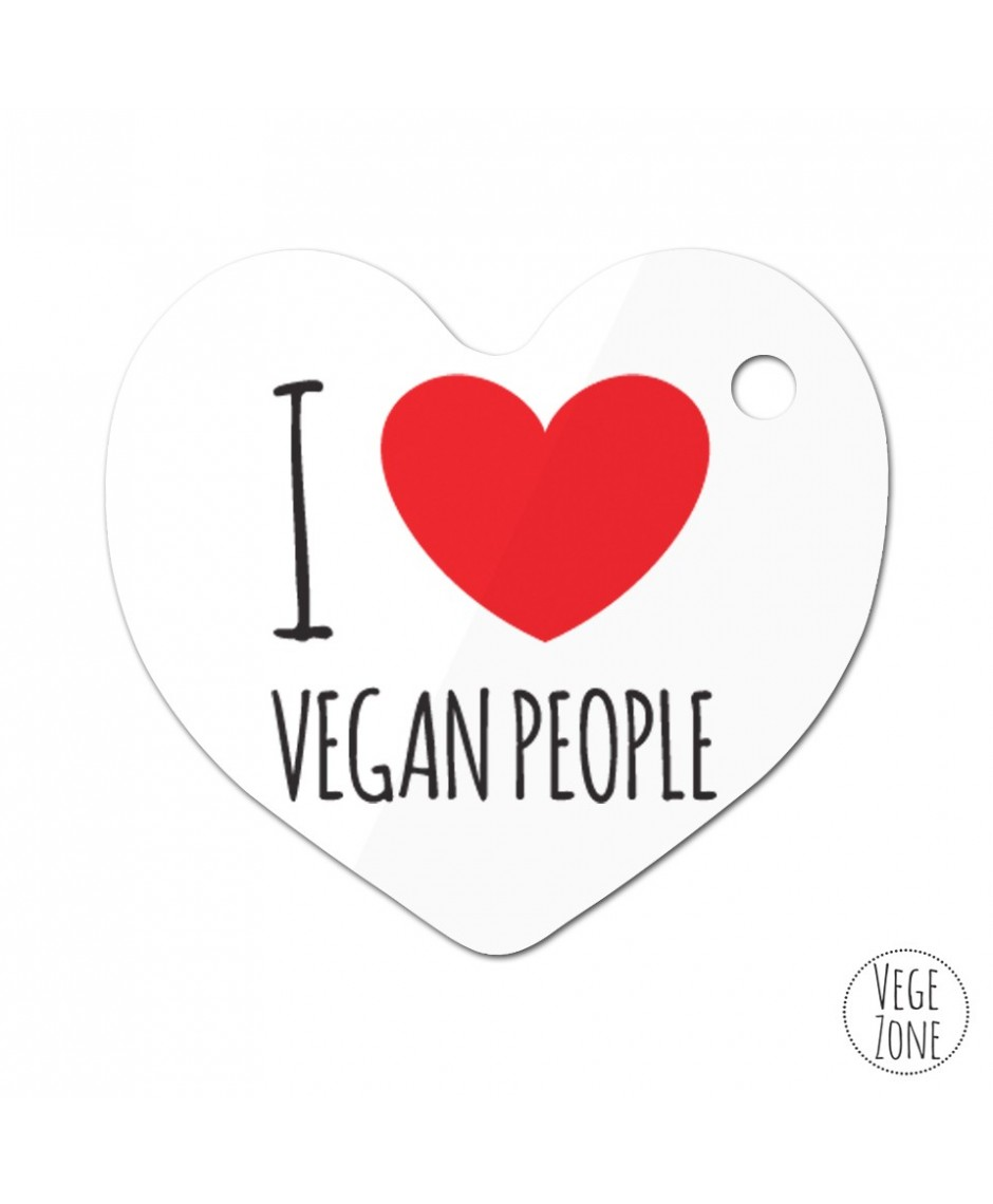 Brelok serce - I love vegan people