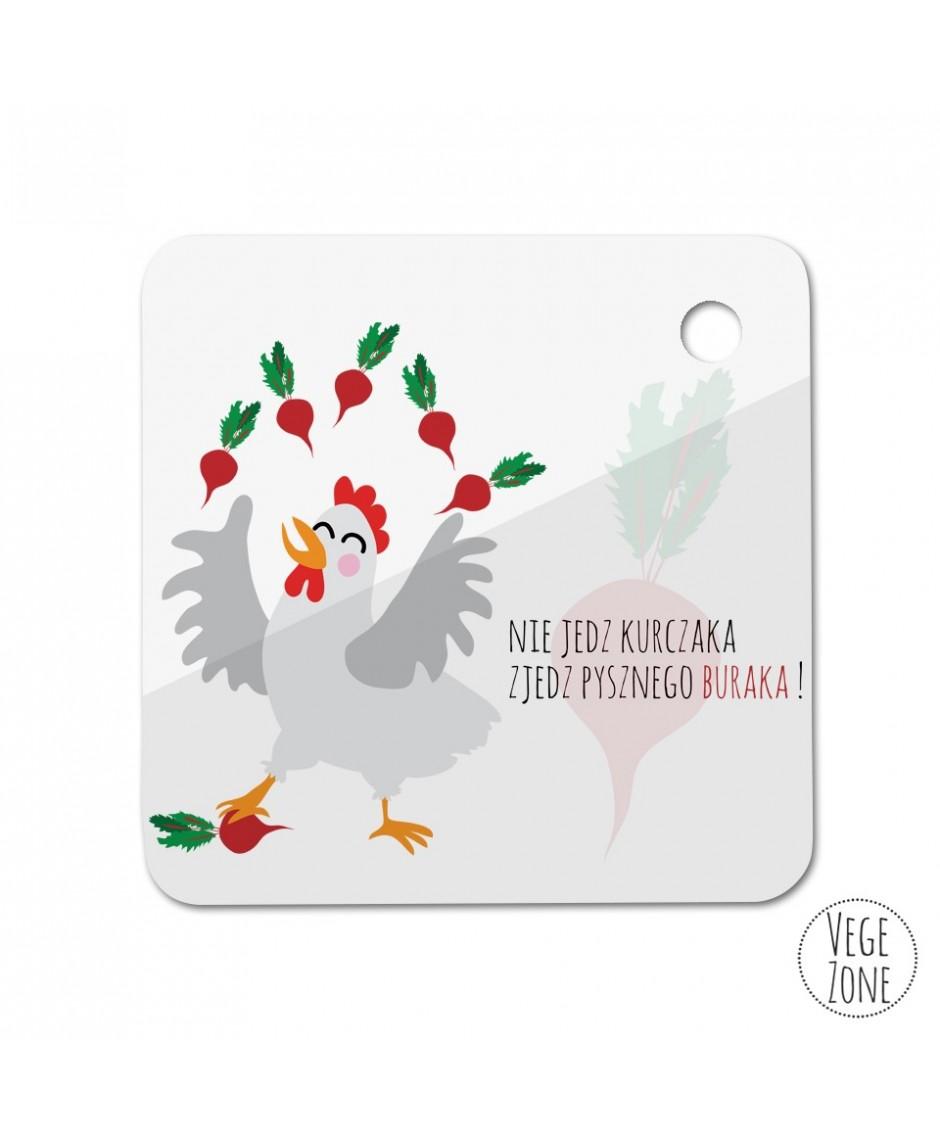 Brelok kwadrat  - Nie jedz kurczaka