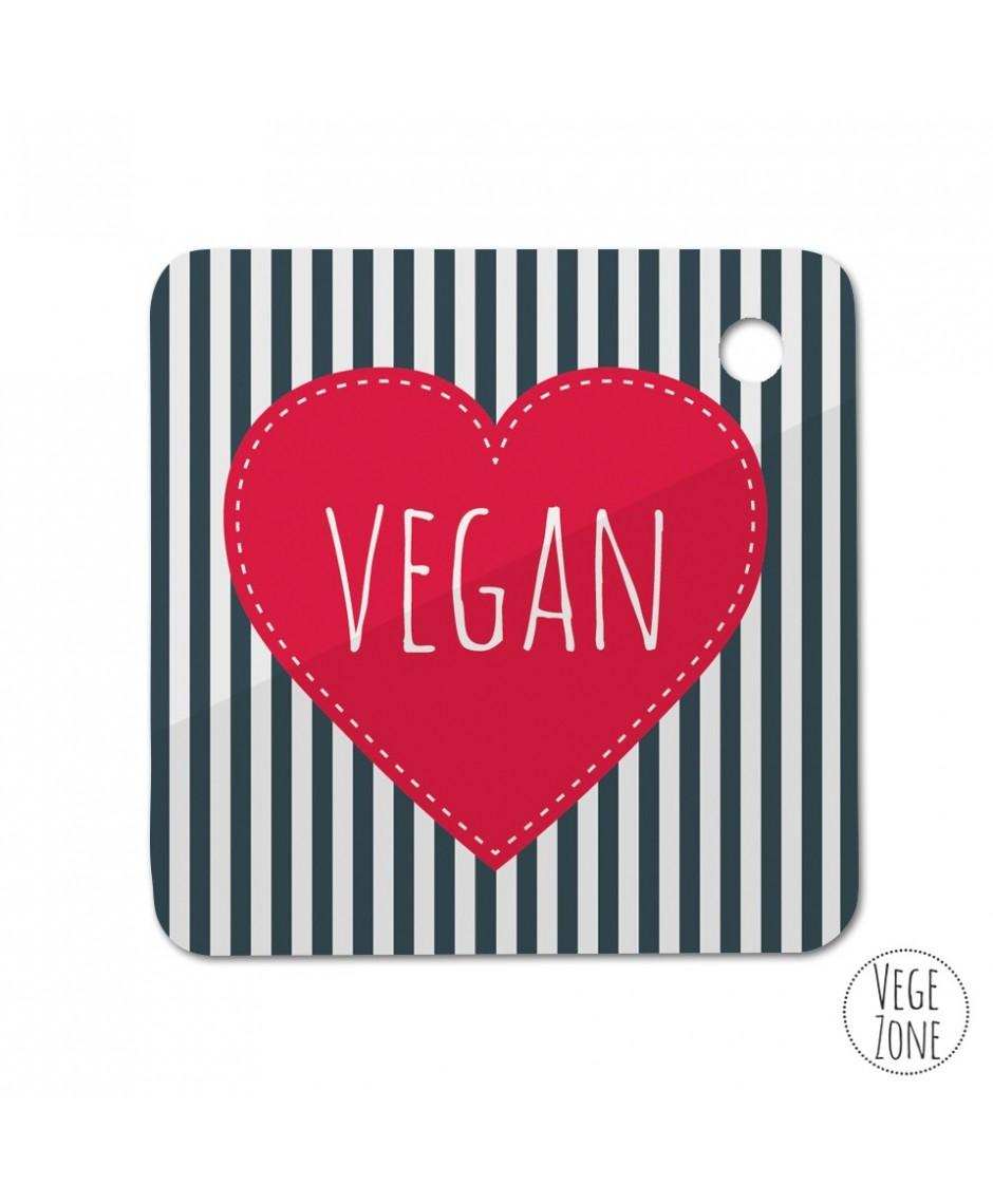 Brelok kwadrat - Marine vegan