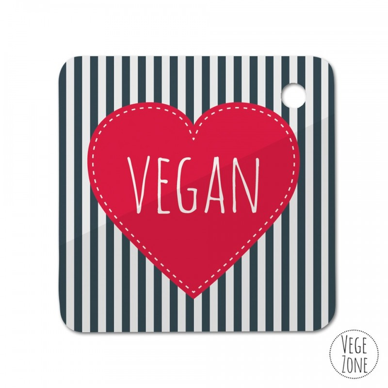 Brelok kwadrat - Nie jem mięsa i już