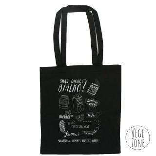 PROUD TO BE VEGAN - black tote bag