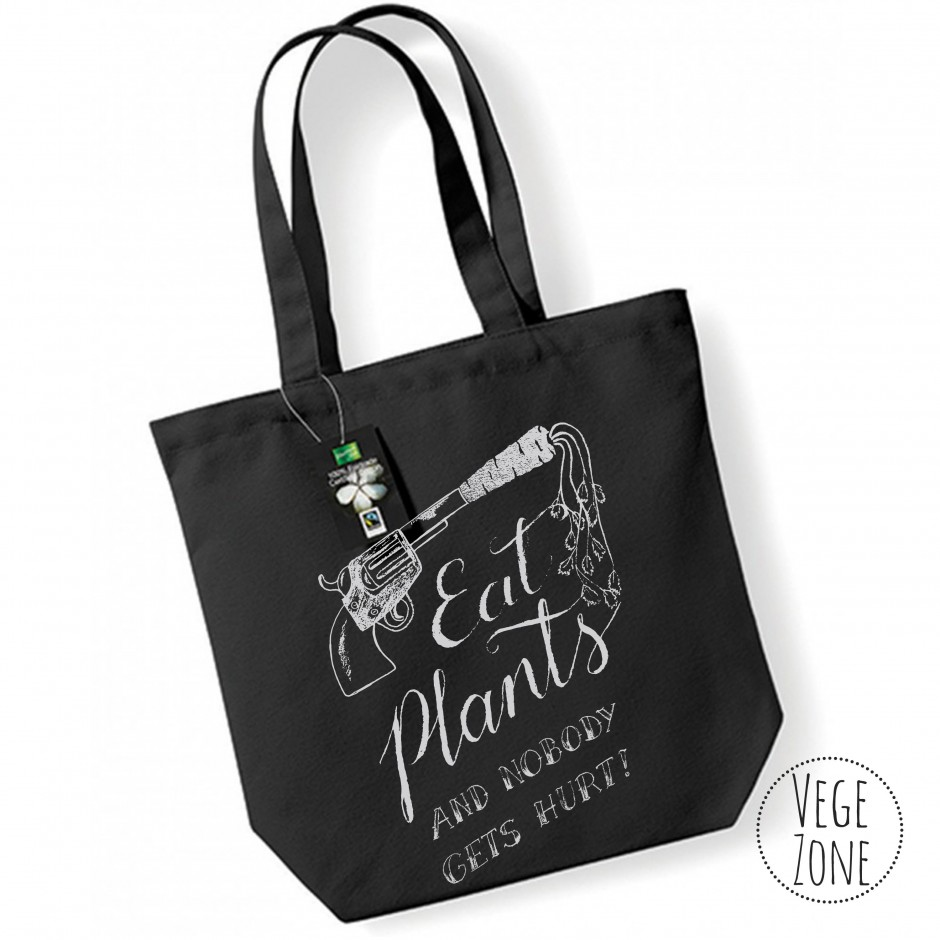 FAIRTRADE COTTON - Eat plants and nobody gets hurt.