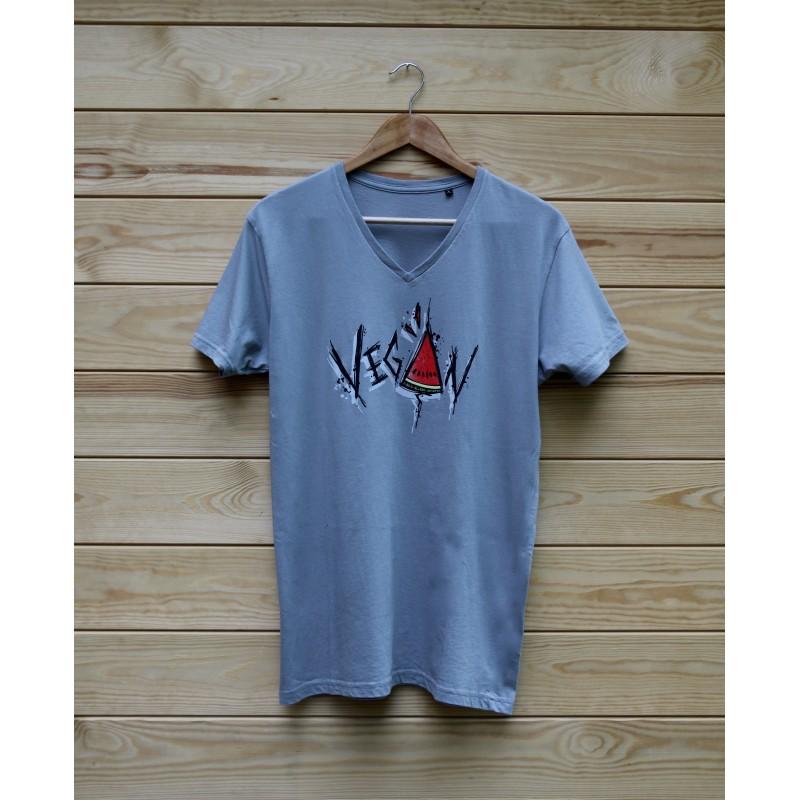 Damski t-shirt Organic VEGAN ARBUZ kolor biały