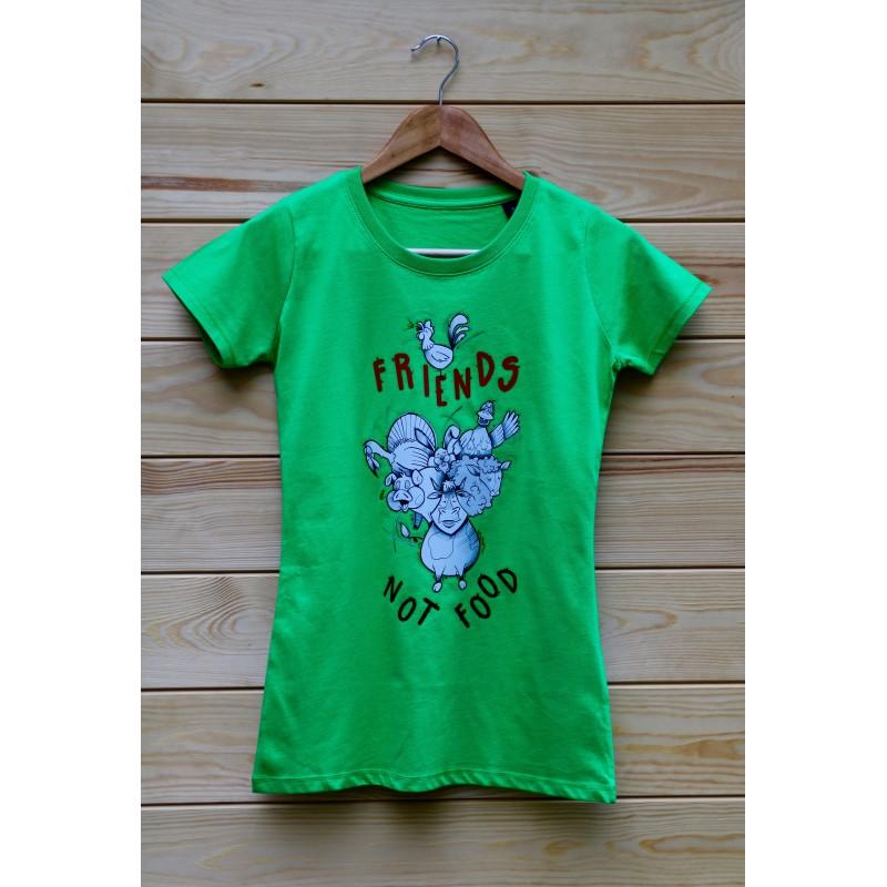 Damski t-shirt Organic Ruth kolor zielony