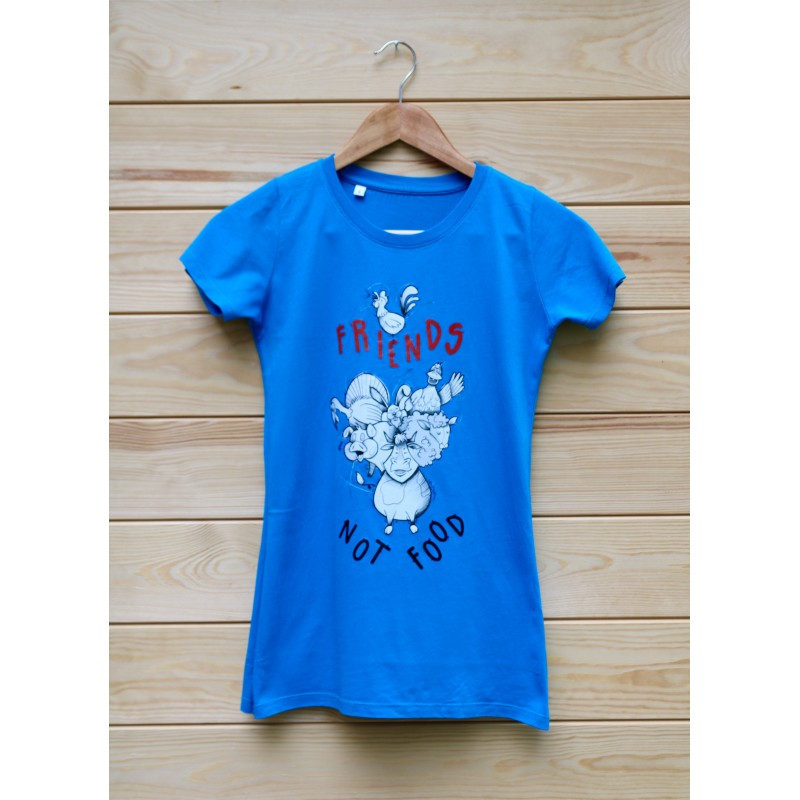 Damski t-shirt Organic Ruth kolor błękitny