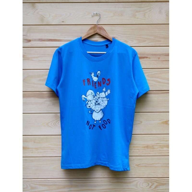 Męski T-shirt Wayne Organic kolor błękitny