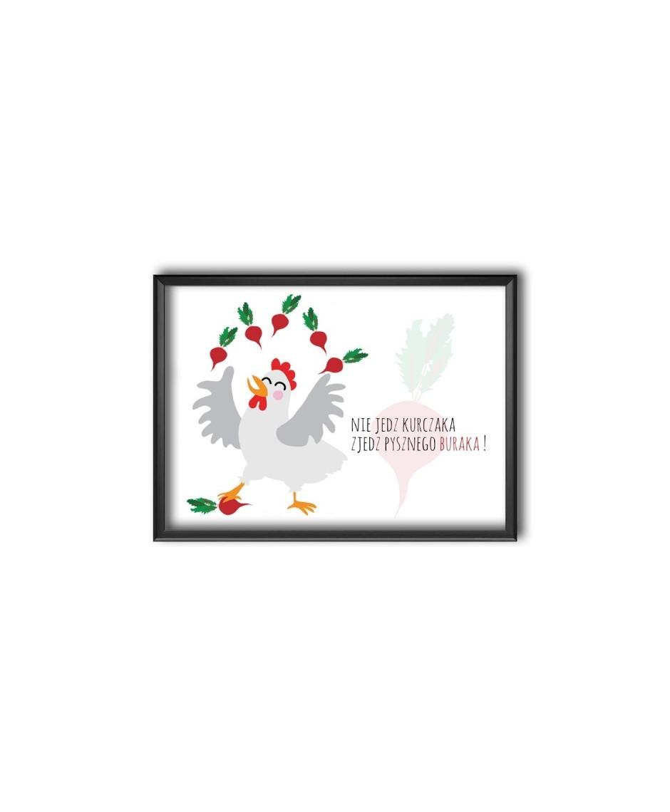 Nie jedz kurczaka - plakat bez ramy