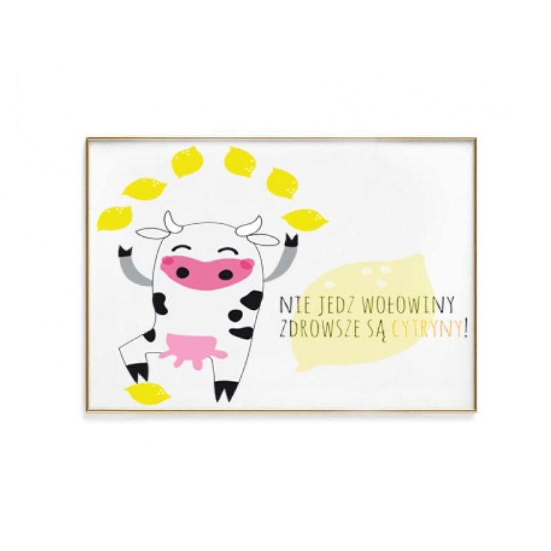 Nie jedz wołowiny - plakat bez ramy