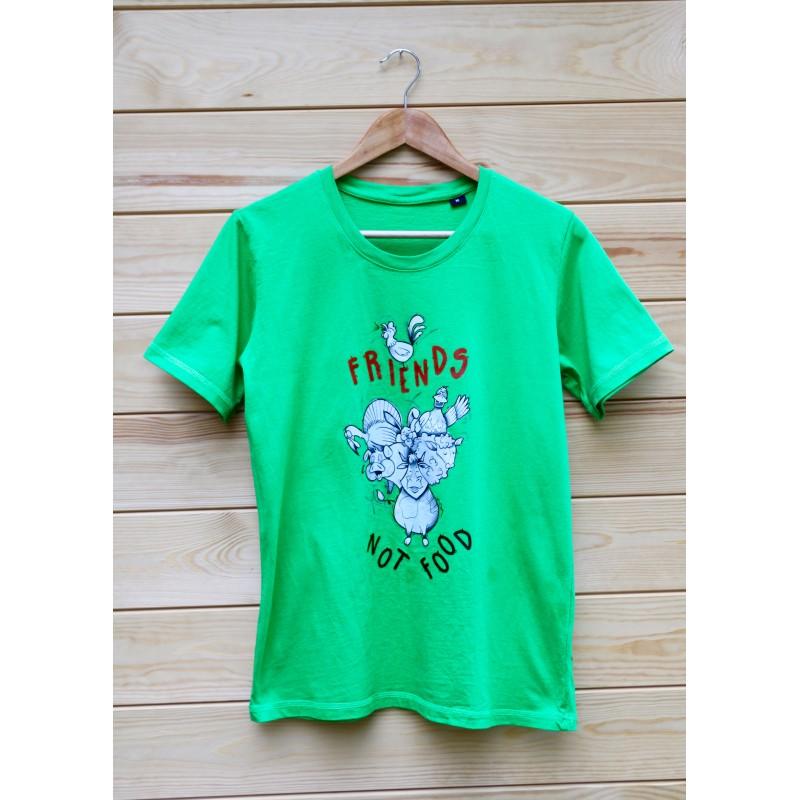 Męski T-shirt Wayne Organic kolor zielony