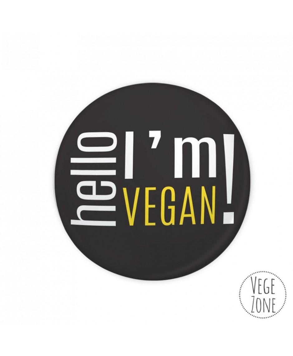 Przypinka DUŻA - Hello, I'm vegan!