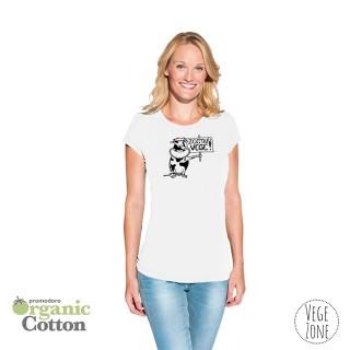 SZKIC - Koszulka damska biała - - Organic -T Fashion - Promodoro