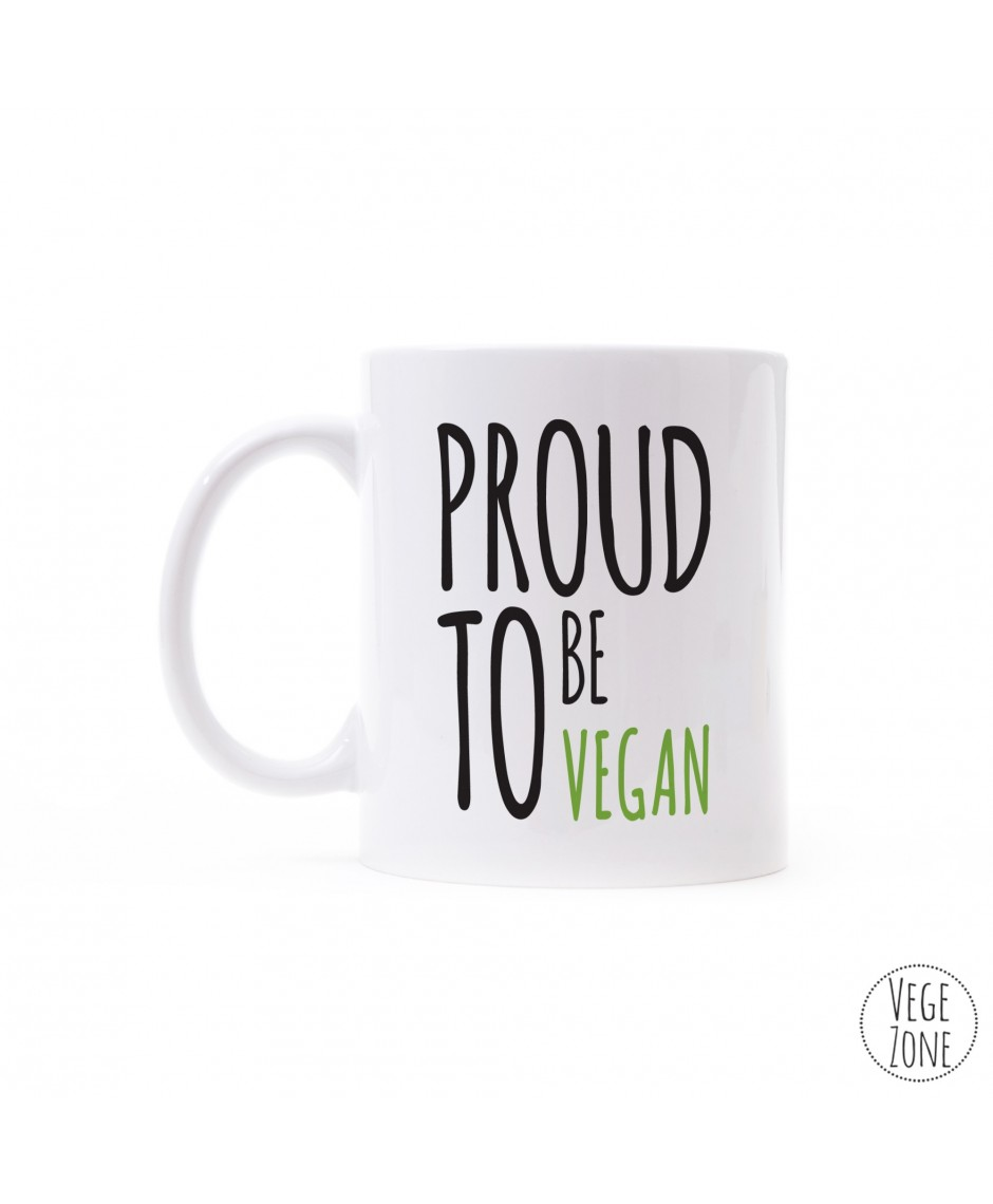 Kubek HQ biały - PROUD TO BE VEGAN