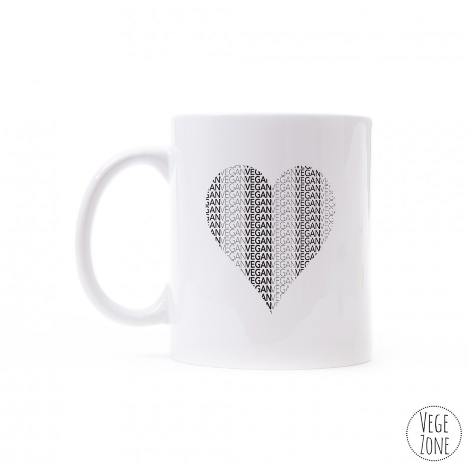 Kubek HQ biały - Vegan Heart