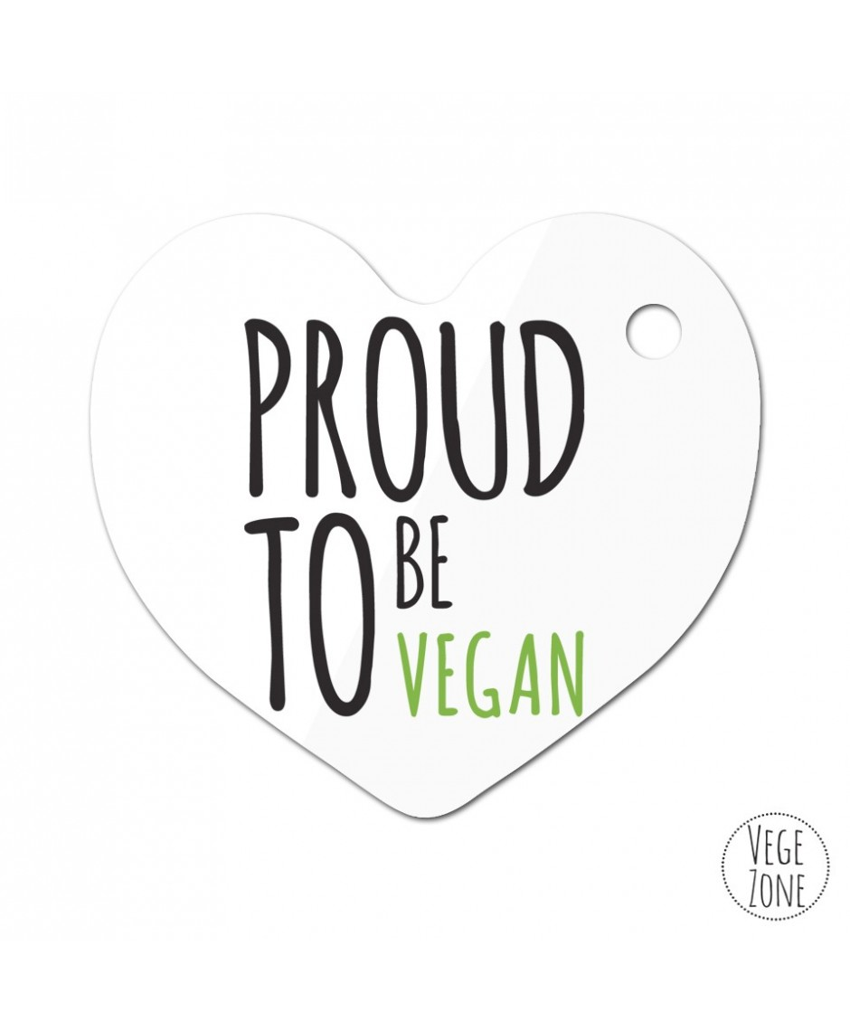 Brelok serce - Proud to be vegan